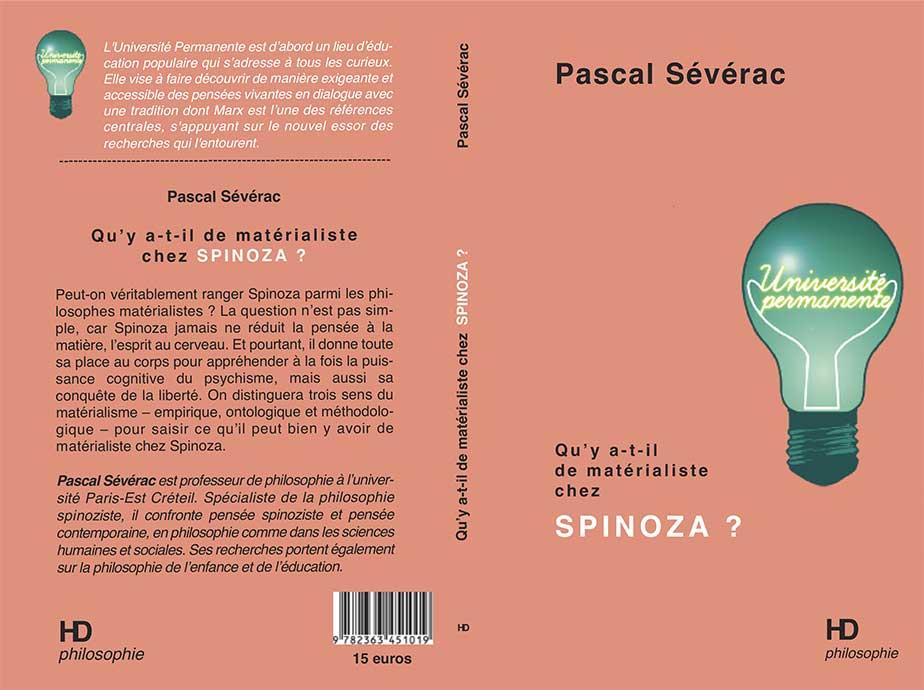 """Couverture du livre """"Qu'y-a-t-il de matérialiste chez Spinoza ?"""""""